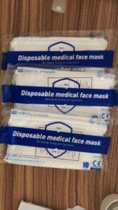 COVID-19 masker / mundbind Type II CE godkendt